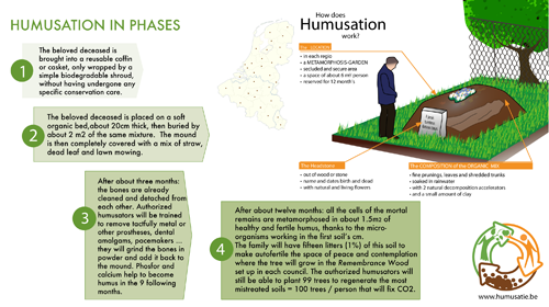 Humusation – Natural composting process of the human body